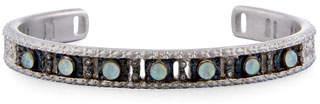 Armenta New World Opal Triplet Cuff Bracelet with Diamonds