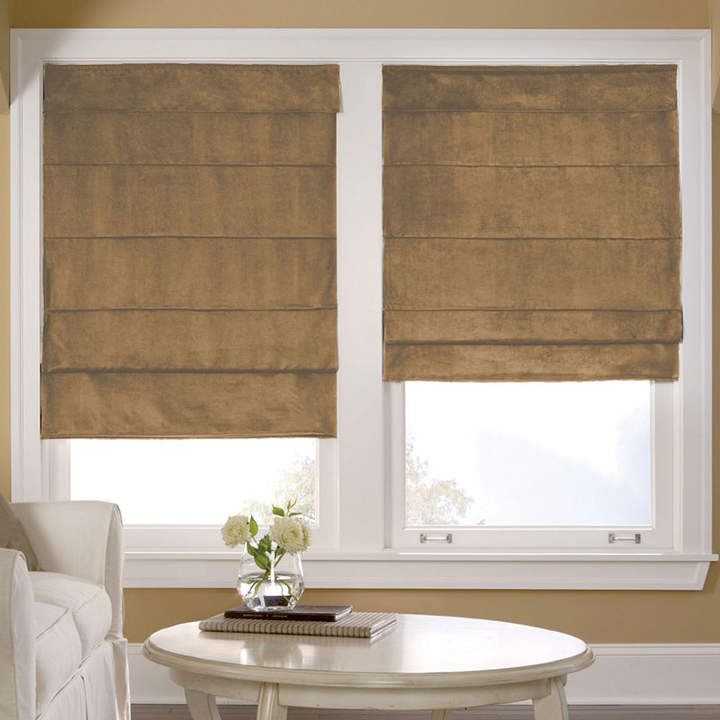 JCP HOME JCPenney HomeTM Custom Suede Blackout Roman Shade