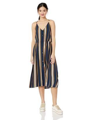 Roxy Junior's Sunset Beauty Tank Dress, Blue MACY Stripe, M