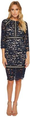 Vince Camuto Lace 3/4 Sleeve Bodycon Dress Women's Dress