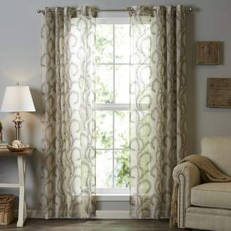 Andover Mills Eugene Damask Semi-Sheer Grommet Single Curtain Panel