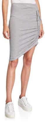 Splendid Alto Striped Skirt with Side Ruching