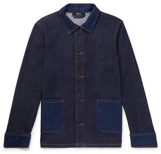 A.P.C. Cotton-blend Denim Chore Jacket - Indigo