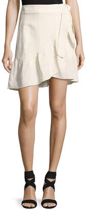 A.L.C. Hampton Wrap-Front Mini Skirt, White