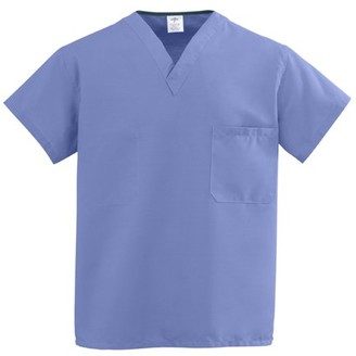 Medline ComfortEase Unisex One-Pocket Reversible Scrub Tops - 910JTHM-CM
