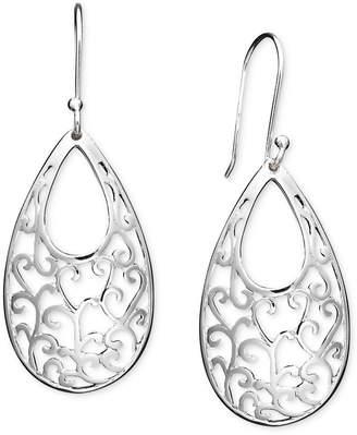 Giani Bernini Open Filigree Drop Earrings in Sterling Silver