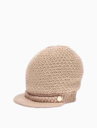 Calvin Klein textured lurex cabbie hat