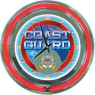 "Trademark Art United States Coast Guard 14"" Neon Clock"