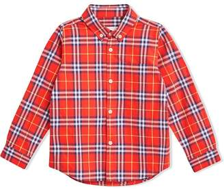 Burberry Button-down Collar Check Flannel Shirt