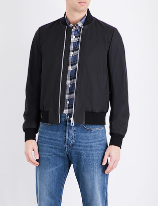 Ps By Paul Smith Matte leather bomber jacket $825 thestylecure.com