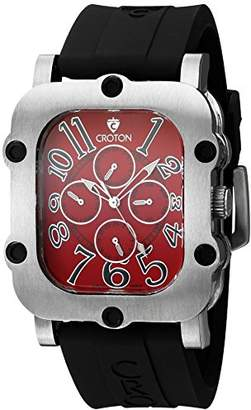 Croton Men's CN307529BSRD Industrial Analog Display Quartz Black Watch