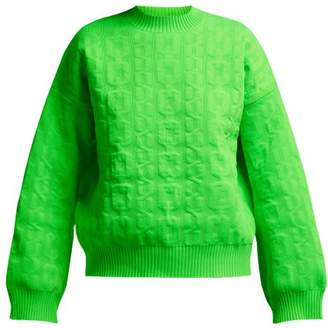 MSGM Cable Knit Sweater - Womens - Green
