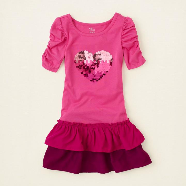 Children's Place Ombre heart dress