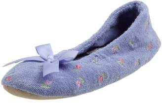 Isotoner Women's Embroidered Terry Ballerina Slipper