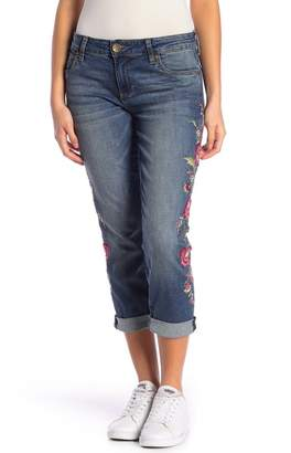 2bfc9ddac4b7 KUT from the Kloth Catherine Embroidered Boyfriend Jeans (Petite)