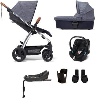 Mamas and Papas Sola2 Chrome 6-Piece Bundle (Pushchair, Carry Cot, Car Seat, Isofix Base, Adaptor and Cupholder)
