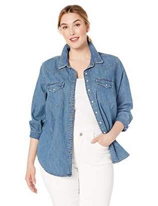 15b26aca3c0fc Lucky Brand Women s Plus Size Button UP Western Shirt