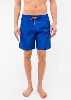Paul Smith Men's Classic-Fit Blue Long Swim Shorts
