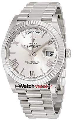 Rolex Day-Date 40 18K White Gold President Automatic Men's Watch 228239SQRSP