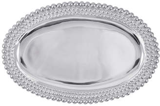 Mariposa String Of Pearls Triple Pearls Oval Platter