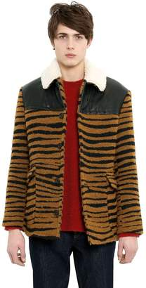 Stella McCartney Tiger Boucle Aviator Jacket