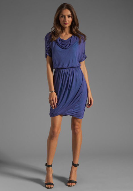 Tracy Reese Solid Jersey Cowl Dress