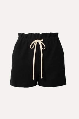 TWENTY Montréal - Sunnyside Cotton-blend Terry Shorts - Black