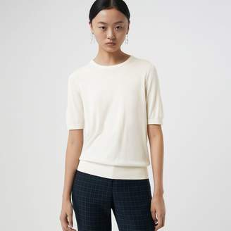 Burberry Short-sleeve Silk Cashmere Sweater
