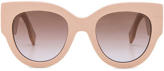Fendi Round Color Block Sunglasses