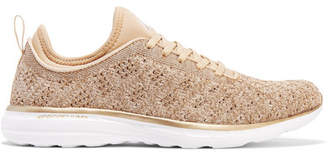 APL Athletic Propulsion Labs - Techloom Phantom 3d Mesh Sneakers - Gold $185 thestylecure.com
