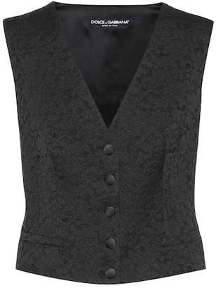 Dolce & Gabbana Floral lace jacquard vest