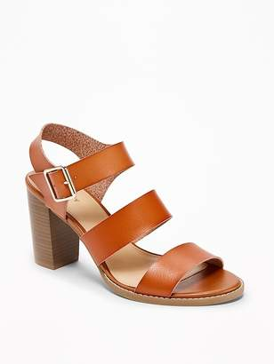 Old Navy Three-Strap Block-Heel Sandals for Women