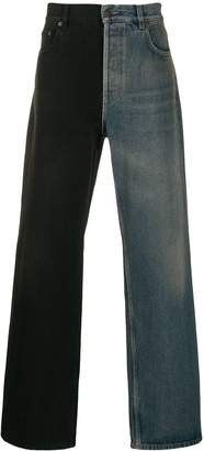 Balenciaga two-toned flared jeans