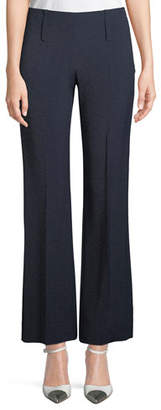 Emporio Armani Side-Zip Straight-Leg Melange Pants