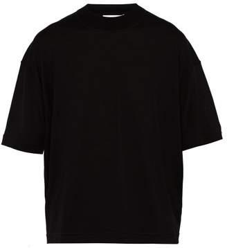 Jil Sander Wool Knit T Shirt - Mens - Black