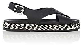 Barneys New York Women's Crisscross-Strap Leather Espadrille Sandals - Black