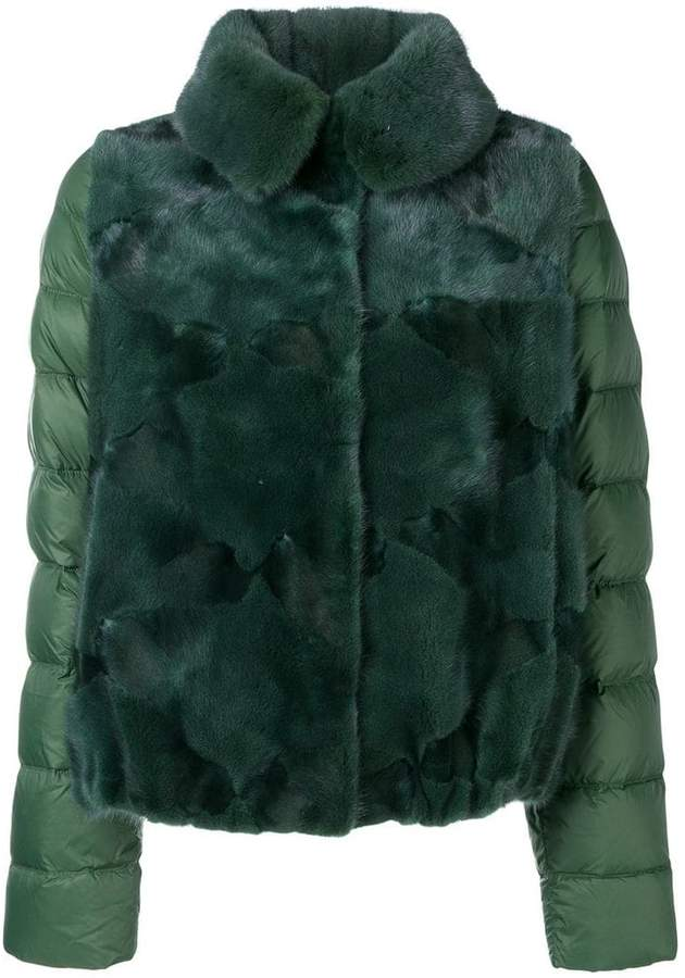 Liska panelled puffer jacket