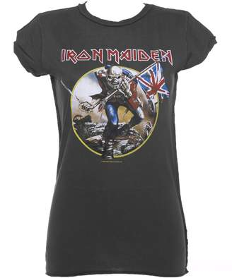 Amplified Womens Charcoal Iron Maiden Trooper T Shirt from