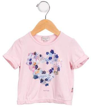 Paul Smith Girls' Printed Short Sleeve Top