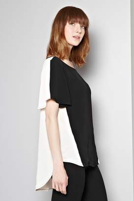 Great Plains Mayfair Crepe Contrast Top