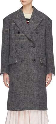 Calvin Klein Double breasted stripe oversized tweed coat