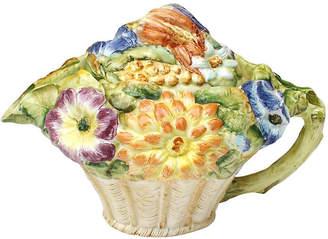 One Kings Lane Vintage Italian Majolica Flower Teapot