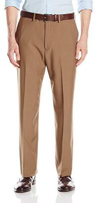Haggar Men's eCLo Stria Expandable-Waist Plain-Front Dress Pant