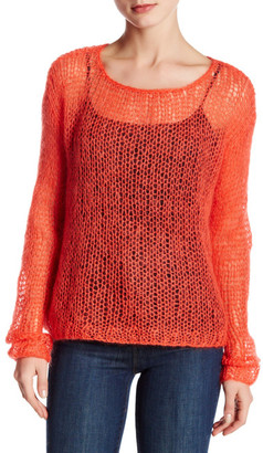 Eileen Fisher Scoop Neck Open Knit Sweater $258 thestylecure.com