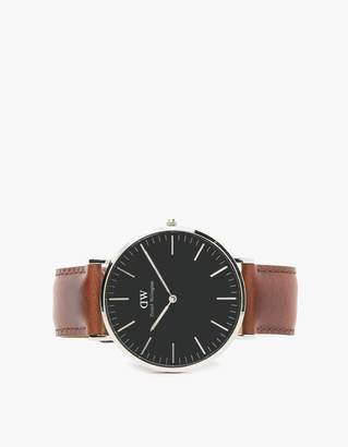 Daniel Wellington Classic Black St. Mawes in Silver