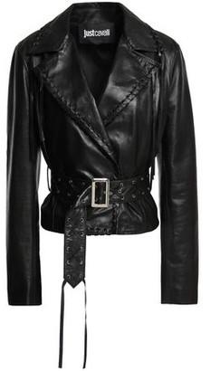 Just Cavalli Fringed Leather Jacket
