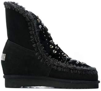 Mou embellished wedge boots