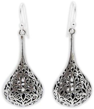 Novica Artisan-Crafted Sterling Filigree Drop Earrings
