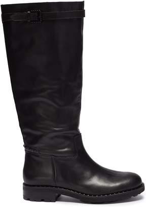 Ash 'Wampas' pyramidal stud leather knee high boots