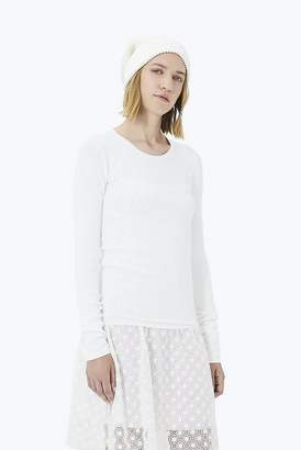 Marc Jacobs Stretch Pointelle Crewneck Sweater